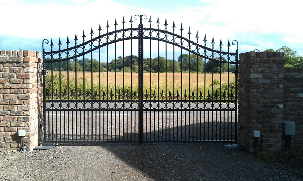 Double wrought iron gates wirral driveway